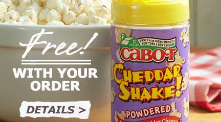 Free Cabot Cheddar Shake!