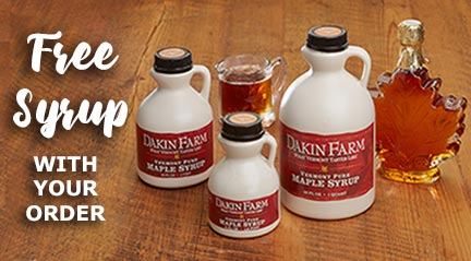 Free Dakin Farm Vermont Maple Syrup