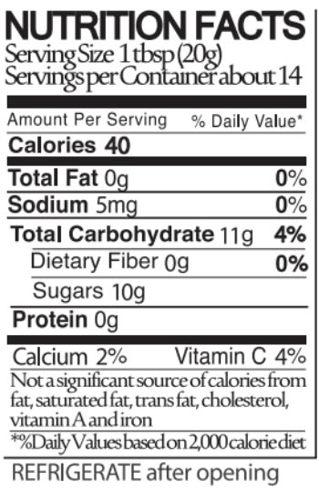 Blake Hill Strawberry Rhubarb Nutritional Facts