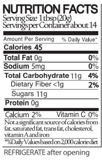 Blake Hill Wild Blueberry Nutritional Facts
