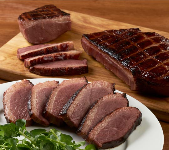 Cob-Smoked Duck Breast