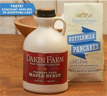 Exclusive BTV Airport Offer: Quart of Maple Syrup and FREE Pancake Mix