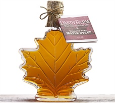 Elegant Glass Maple Leaf with Pure Vermont Grade A Amber