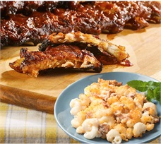 Home Comfort With Ribs and Mac & Cheese