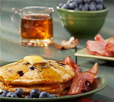 Complete Blueberry Pancake Breakfast
