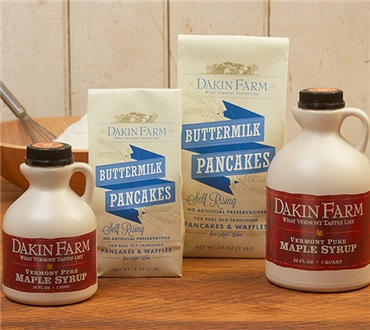 Buttermilk Pancakes & Pure Vermont Maple Syrup