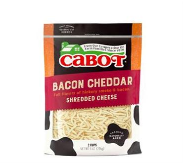 Cabot Smoky Bacon Shredded Cheddar