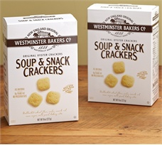 Six 8 oz boxes of Westminster Oyster Crackers
