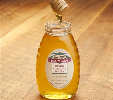Clear Vermont Clover Honey in Glass