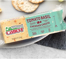 Cabot 8 Oz Tomato Basil Cheddar Cheese