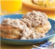 Sausage & Gravy with Biscuits